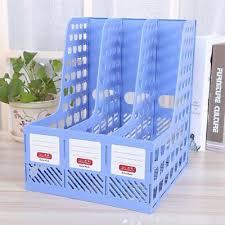 desk office file document paper. Home Office 3Shelf Plastic Magazine File Holder Bin Desk Storage Organizer Paper Document N