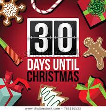 Calendar Countdown Days Countdown Christmas Flip Number Advent Calendar Stock Illustration
