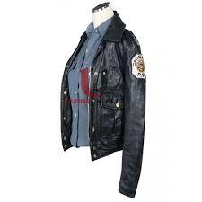 angel eyes sharon pogue women s police leather jacket