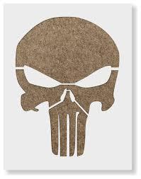 punisher skull stencil on reusable