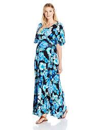 Everly Grey Womens Asa Maternity And Nursing Wrap Maxi Dress