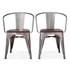 distressed metal furniture. Carlisle Metal Dining Chair Distressed Set Of 2 Furniture