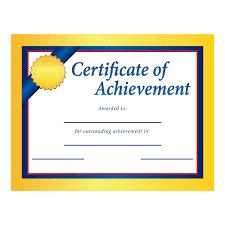 Achievement Certificate