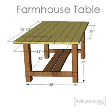diy outdoor furniture plans. Farmhouse Table Plans From Thrifty And Chic Decor. She Also Has A Post On  How To Weather New Wood Look Aged, Which Was Really Good Too (and I Pinned It Diy Outdoor Furniture