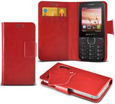Red) Alcatel 2040 Super Thin PU Leather ...