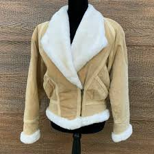 details about adventure bound by wilsons tan suede leather er jacket women s medium