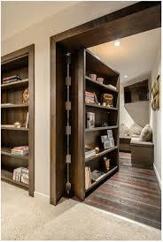 Interior:Awesome Secret Room Design With Wooden Bookaase Door And Cream  Flooring Ideas Excellent Wooden