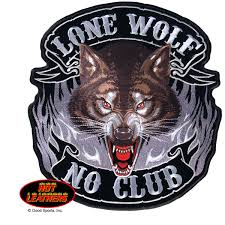 hot leathers lone wolf no club patch