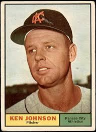 Amazon.com: 1961 Topps # 24 Ken Johnson Kansas City Athletics (Baseball  Card) VG Athletics: Collectibles & Fine Art