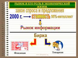Рыночные отношения в современной экономике Презентация  РЫНОК И ЕГО РОЛЬ В ЭКОНОМИЧЕСКОЙ ЖИЗНИ