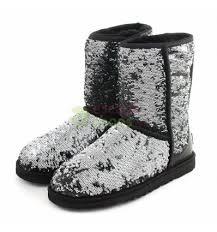 Boots UGG Classic Short Sparkles Black Multi 1002765 BLKM