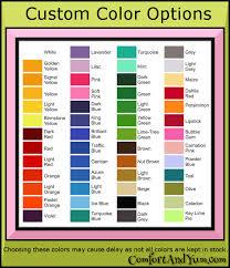 Custom Color Charts Comfort Yum