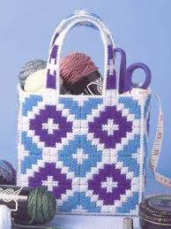 Quick and Easy Tote free plastic canvas pattern of the day from  freepatterns.com 8… | Plastic canvas patterns, Plastic canvas patterns  free, Plastic canvas stitches