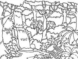 Waterfall Coloring Page At Getdrawingscom Free For Personal Use