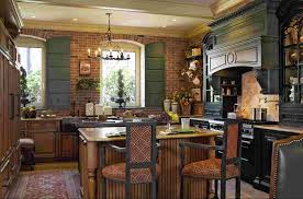rustic french country kitchens.  Kitchens Delightful Hanging Ceiling Kitchen Appliance Storage Over Rustic Wooden  Island As Well  In French Country Kitchens I