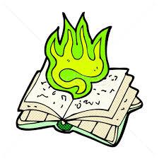 stock photo stock vector ilration retro ic book style cartoon magic spell book