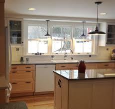 Kitchen Lighting Pendant Light Over Kitchen Sink Globe Pewter Mission  Shaker Glass Ivory Countertops Islands Backsplash Flooring