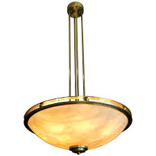 viyet designer furniture lighting new metal crafts brass and alabaster style bowl chandelier