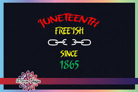 Svg or scalable vector graphics is essentially a vector based image format that supports animation and interactivity. Juneteenth Chain Free Ish Since 1865 Graphic By Ssflower Creative Fabrica