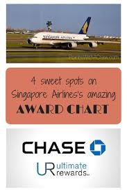 4 Sweet Spots On Singapore Airliness Amazing Award Chart