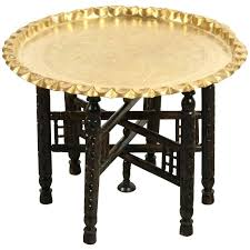 round brass table vintage etched brass round tray table for antique brass table leg caps