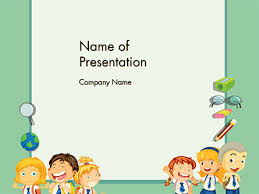 Powerpoint Frame Theme Frame With Children In School Uniform Powerpoint Template