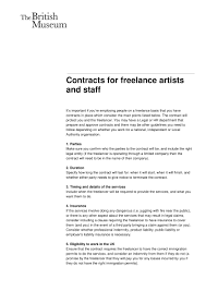 Basic Contract Outline 002 Template Ideas Freelance Artist Contract For Artists