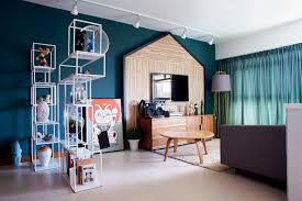 Turquoise Living Room House Tour A Bold Colourful Five Room Hdb Flat Home Decor