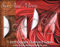 1 inch square diamond glass for pendants jewelry and magnet crafts clear glass tiles