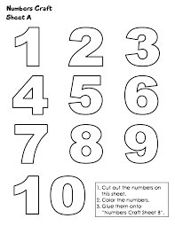 Small Picture Coloring Page Numbers 1 10 Coloring Pages Coloring Page and