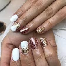 White Rose Nail Design White Rose Gold