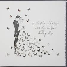 to the bride and groom wedding day large handmade wedding card Bride And Groom Wedding Cards to the bride and groom wedding day large handmade wedding card swl1 amazon co uk office products bride and groom wedding bands
