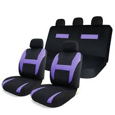 for 8pcs car seat covers set black purple universal airbag compatible storage bag at whole on crov com