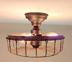 cheap rustic lighting. Rustic INDUSTRIAL Flush Mount Ceiling Light Cage Cheap Lighting