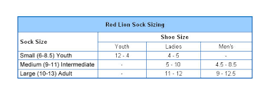 Red Lion Size Chart Jpg
