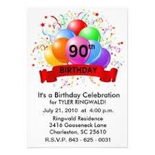 15 Best 90th Birthday Invitation Template Images 90th Birthday