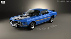 360 view of Ford Mustang Mach 1 351 1969 3D model - Hum3D store