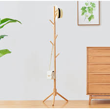 Coat Bag Rack Wooden Coat Hanger Home Furniture Pine Hangers Living Room Modern 17