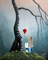 alice in wonderland painting alice in wonderland original artwork alice and the enchanted key