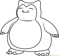 Snorlax Pokemon Coloring Pages Images Sketch Coloring Page