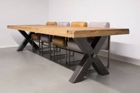 industrial dining table. Industrial Dining Table Kansas X-leg