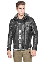 g by guess men s blake faux leather jacket g by guess para hombres cuero sintetico chaqueta