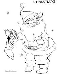 Small Picture Simple Christmas Drawings Santa Clause Coloring Pages for Kids