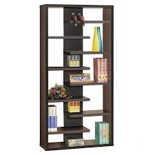 Staggered Bookshelf step high concrete modern bookcase | eurway furniture