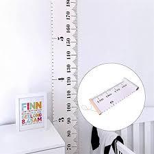 White Growth Chart Baby Growth Chart Handing Rulers Wall Decor For Kids