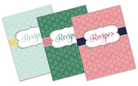 recipe binder template free
