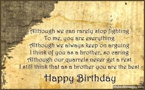 Birthday Wishes For Brother Quotes And Messages Wishesmessages Com