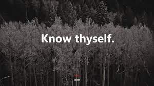 600300 Know thyself.