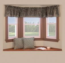 kitchen bay window treatments. Interesting Kitchen Bay Window With Clever Curtain Ideas Has Small Hanging On Top For Kitchen Treatments Y
