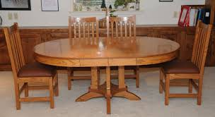 dining room table and chair set in pecan liquid oil based stain and arm r seal